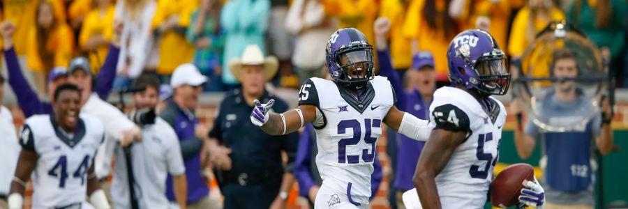 NCAA Football Betting Odds on Oklahoma vs. TCU