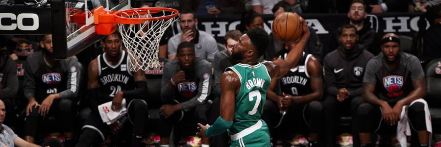 Jaylon Brown and the Celtics are slight NBA Betting favorites for Game 5 against the Cavs.