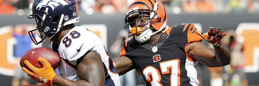 Broncos Host Bengals As Slight NFL Betting Favorite for Week 11.
