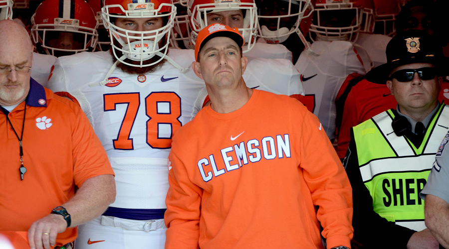 Dabo Swinney and Clemson Tigers NCAAF Odds