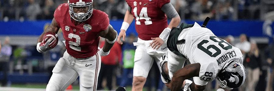 Derrick Henry had a walk in the park kind of game vs the Spartans.