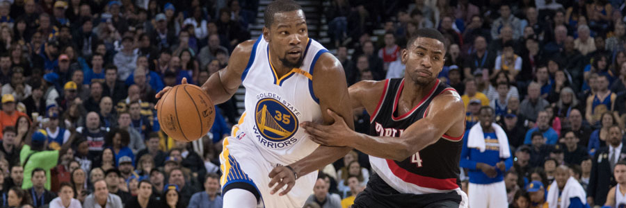 NBA Odds & Game Preview: Portland at Golden State.