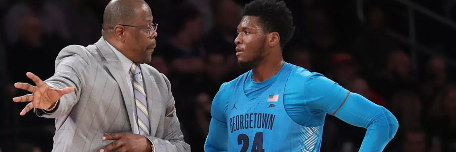 Patrick Ewing and the Hoyas are huge NCAAB Odds underdogs against Villanova.