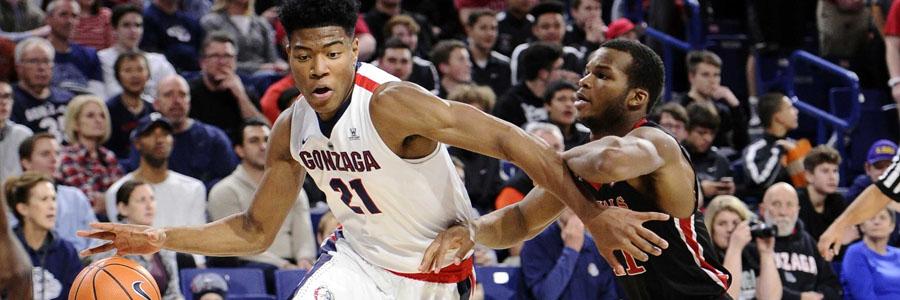 Gonzaga vs Loyola Marymount NCAAB Odds & Game Info.