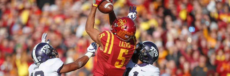According to the College Football Week 12 Betting Odds, Iowa State is a huge favorite to beat Baylor.