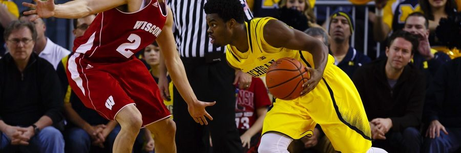 JAN 13 - College Basketball 2017 Betting Lines Michigan At Wisconsin