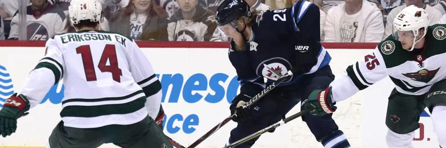 Game Info & NHL Betting Prediction: Winnipeg at Minnesota.