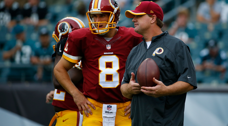 Kirk Cousins and Jay Gruden