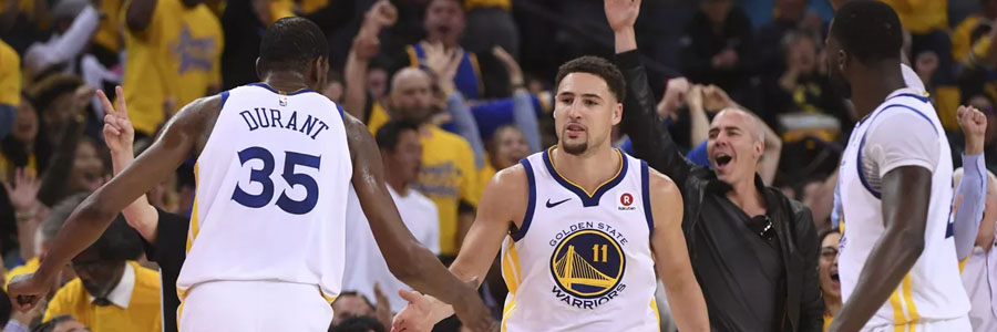 Klay Thompson and the Warriors are huge favorites at the NBA Odds for Game 2.
