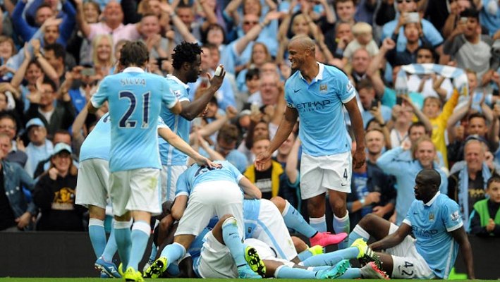 Man City Celebrates