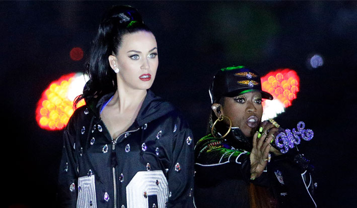 Katy Perry and Missy Elliot NFL betting props