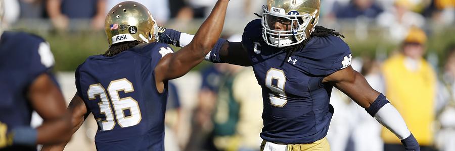 Notre Dame @ Temple NCAA Football Spread Analysis