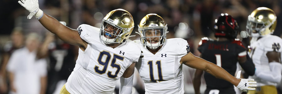 New Mexico vs Notre Dame 2019 College Football Week 3 Lines & Pick.
