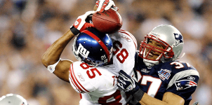 """I'm pretty sure it's hard to forget a play like the """"helmet catch"""" for the Patriots."""