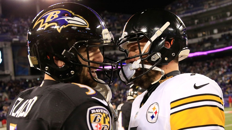 Quarterbacks and Rivals Ben Ben Roethlisberger and Joe Flacco meet in the latest edition of this heated rivalry