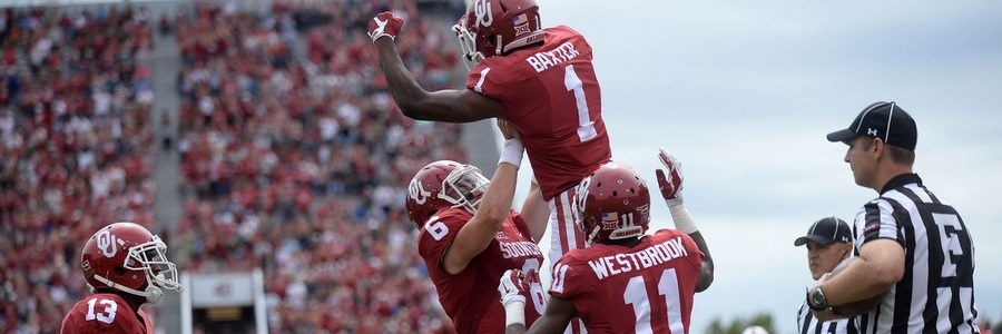 The Oklahoma Sooners are top favorites in the college football odds to win their division.