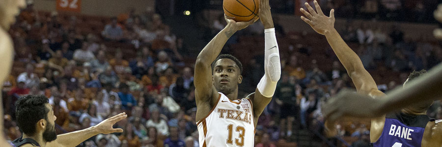 The Longhorns are not favored by the NCAAB Lines against the Red Raiders.