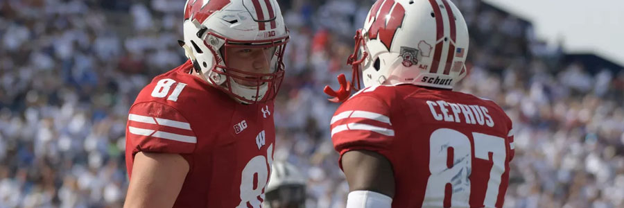 Badgers are the NCAAF Week 10 Betting Lines favorite against Indiana.