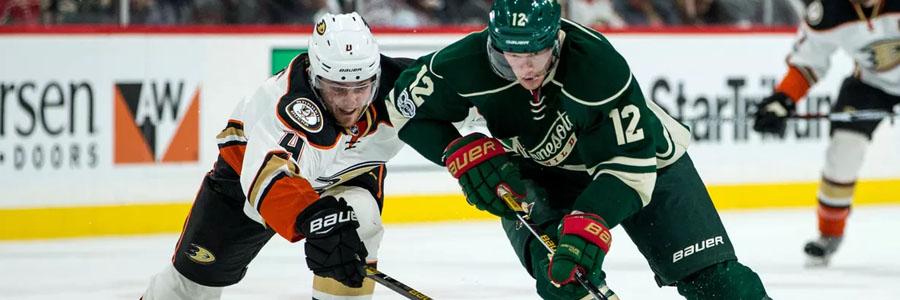 Ducks Are Slight NHL Betting Favorites Against the Wild.