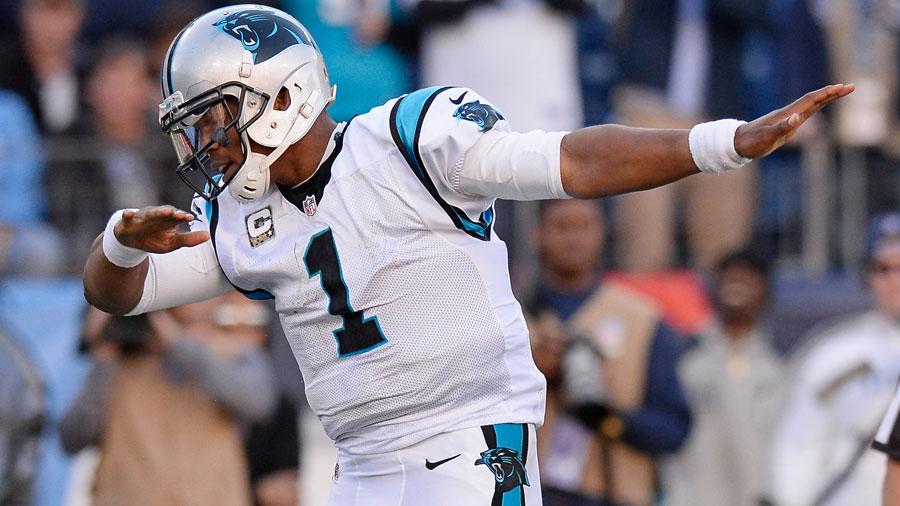 Cam Newton , quarterback of the Carolina Panthers.