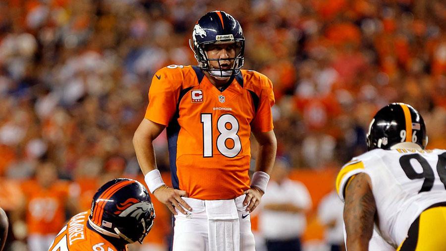 Peyton Manning, QB of the Denver Broncos.