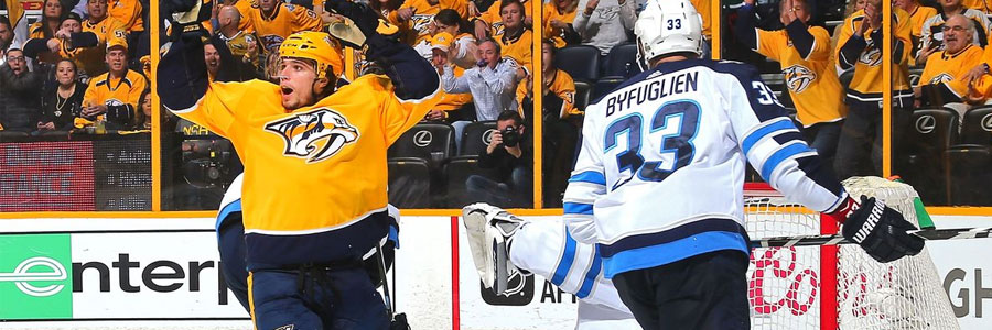 2018 Playoffs Prediction: Predators at Jets NHL Lines & Game 3 Pick