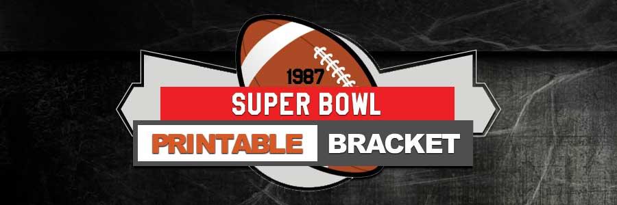 1987 NFL Printable Bracket