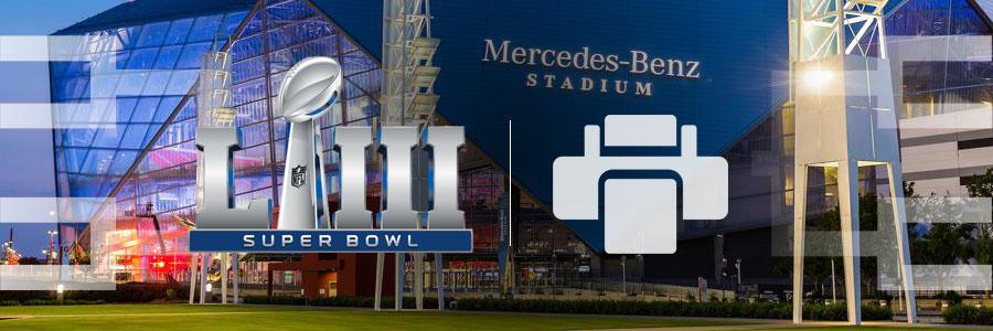 Super Bowl 53 Bracket Rams Patriots Printable Bracket 2019 Nfl