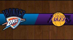 Thunder vs Lakers Result Basketball Score