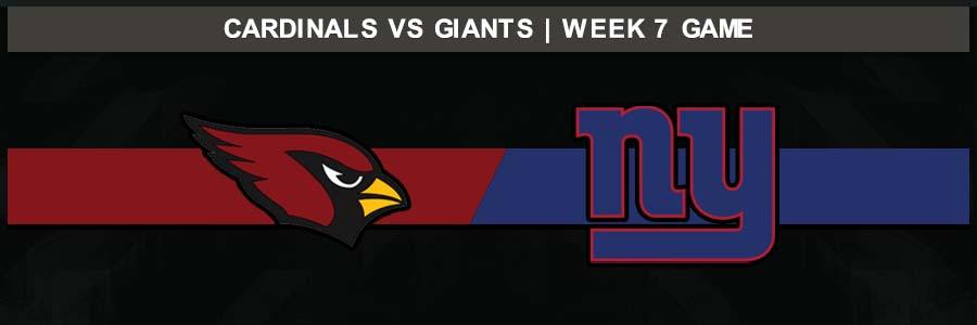 Cardinals 27 @ Giants 21, Week 7 Result Sunday Football Score