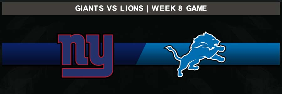 Giants @ Lions, Week 8 Result Sunday Football Score